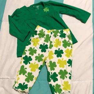 Baby St Patrick's day outfit 6m